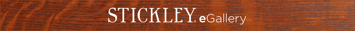 stickley e gallery text on wood background